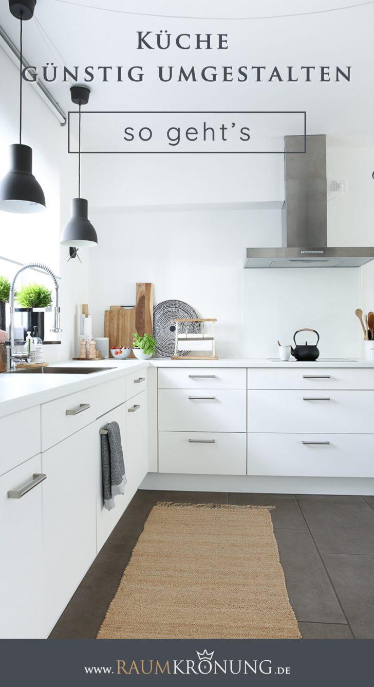 Medium Size of Kche Gnstig Umgestalten Kchenfronten Erneuern Ohne Teuren Küchen Regal Wohnzimmer Küchen