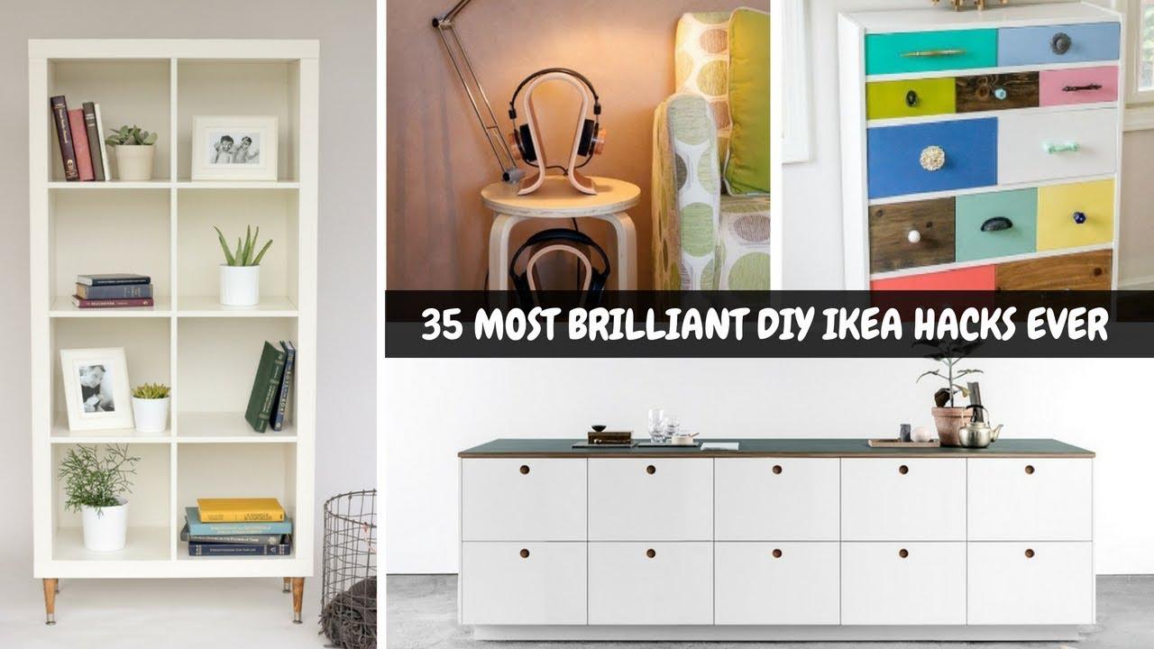 Full Size of 35 Most Brilliant Diy Ikea Hacks Ever Youtube Betten 160x200 Modulküche Küche Kosten Sofa Mit Schlaffunktion Miniküche Bei Kaufen Wohnzimmer Ikea Hacks