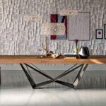 Cattelan Italia Esstisch Skorpio Wood Italienischer Design Designer Betten Esstische Massiv Massivholz Regale Rund Holz Bett Modern Runde Küche Esstische Esstische Design