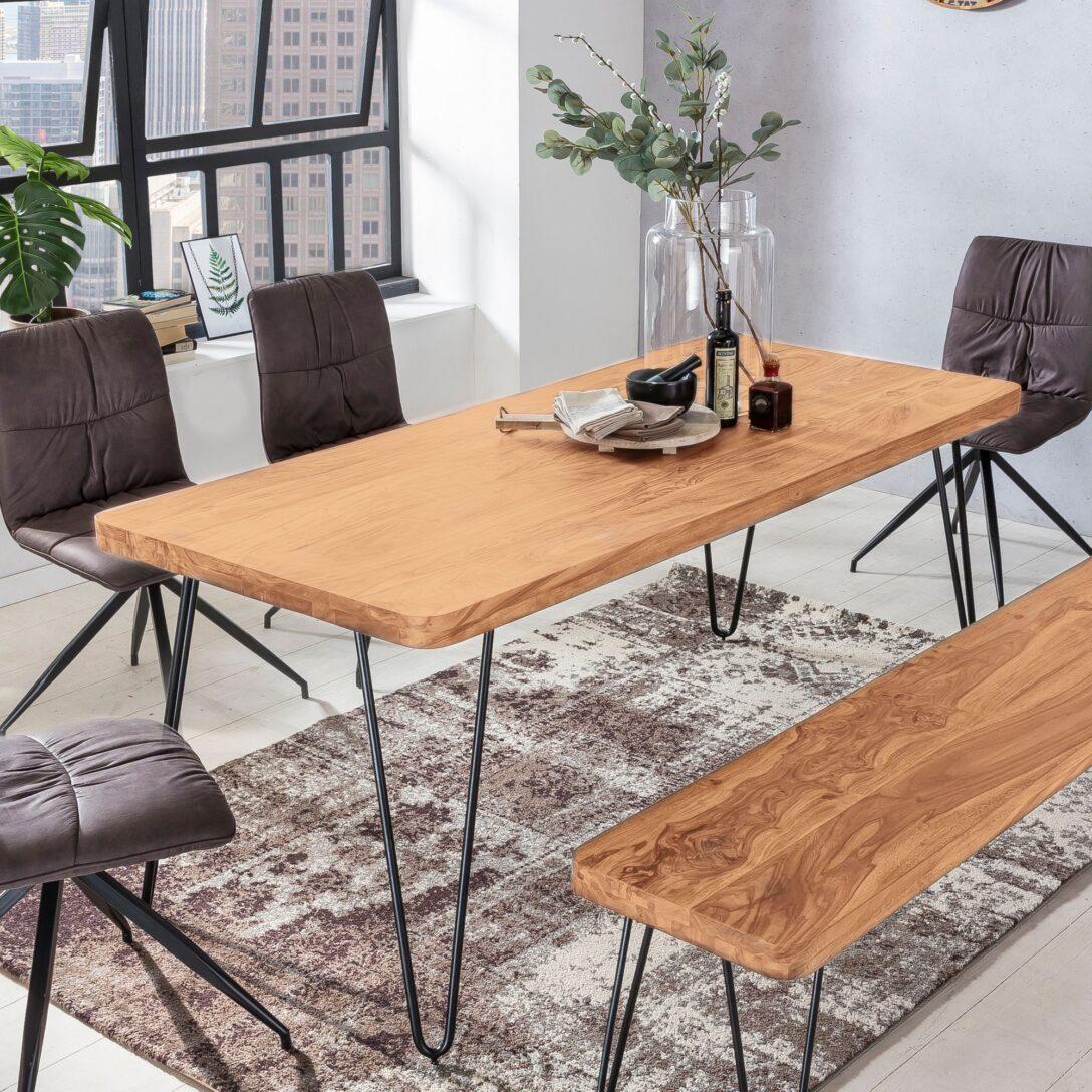 Large Size of Massiver Esstisch Harlem Akazie Holz Tisch Massiv Esszimmertisch Massivholz Betten Glas Ausziehbar Regal Modern Oval Massivholzküche Kernbuche Buche Grau Esstische Massivholz Esstisch