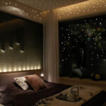 Thumbnail Size of Sternenhimmel Glow In The Dark Wandaufkleber 252 Punkte Und Mond Sofa Regale Regal Weiß Kinderzimmer Sternenhimmel Kinderzimmer