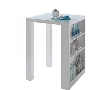 Küchenbartisch Wohnzimmer Kchenbartisch Fable In Hochglanz Wei Mit Glasplatte
