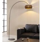 Bogenlampe Esstisch Caiden Stehlampe Braun Runder Lampen Glas Holzplatte Günstig Weiß Oval Musterring Rund Mit Stühlen Buche Esstische Bogenlampe Esstisch