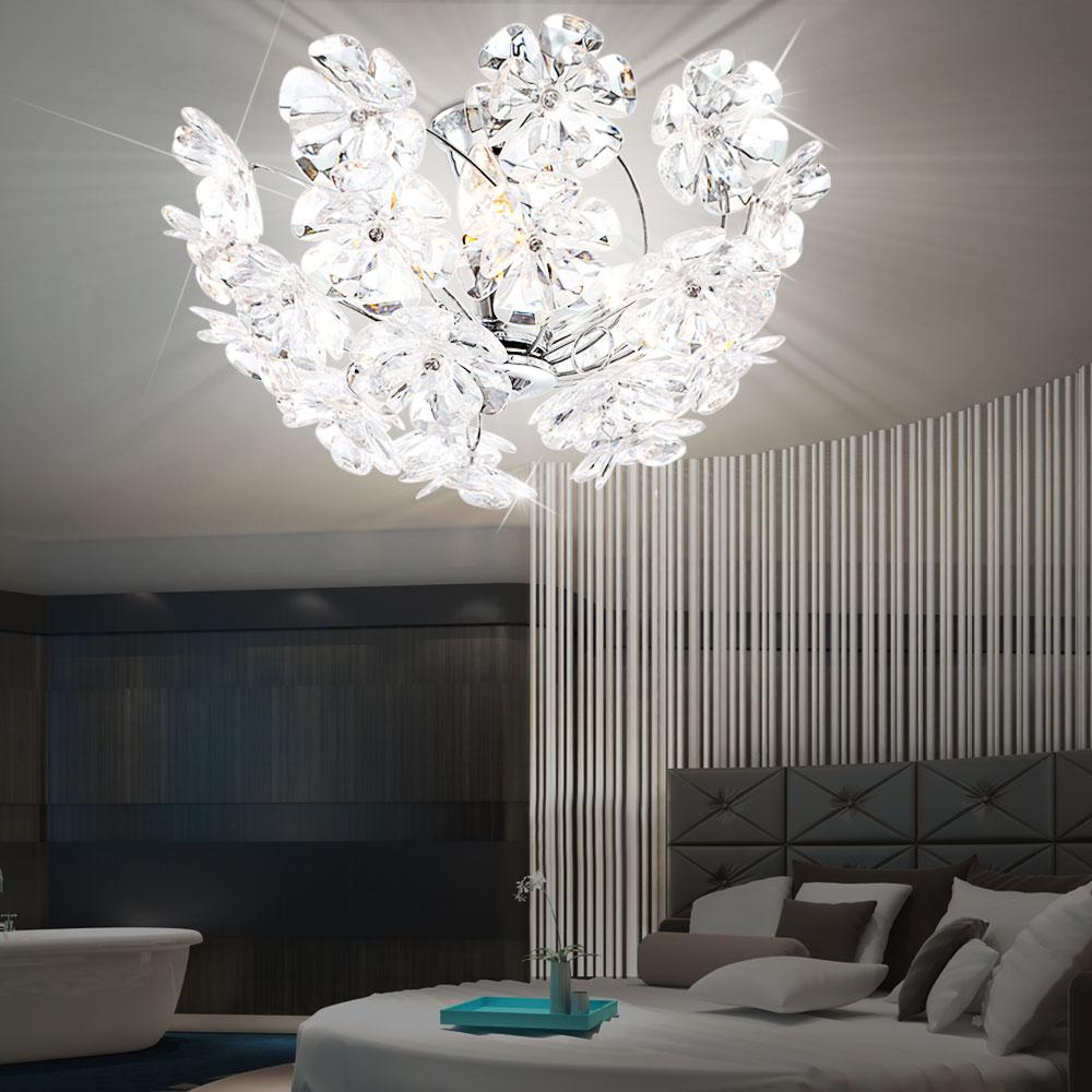 Full Size of Schlafzimmer Lampen Dekorative Deckenlampe In Chrom Mit Blten Phoenimeinelampe Rauch überbau Komplett Poco Weiss Massivholz Kommode Komplettangebote Lampe Wohnzimmer Schlafzimmer Lampen