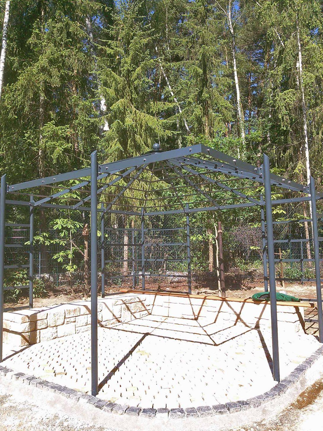 Large Size of Pergola Aus Metall In Feuerverzinkt Und Pulverbeschichtet Nach Ma Garten Regale Regal Weiß Bett Wohnzimmer Pergola Metall