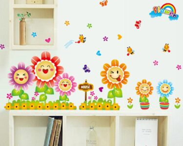 Kinderzimmer Dekoration Kinderzimmer Cute Spring Wall Aufkleber Fr Wohnzimmer Regale Regal Sofa Weiß