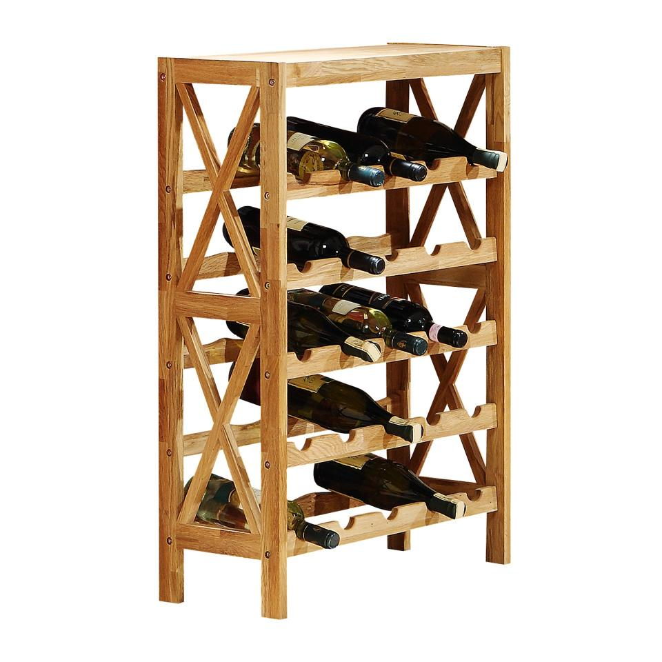 Full Size of Holz Weinregal Massives Eichenholz Fr Hohe Stabilitt Preiswert Holzregal Badezimmer Dvd Regal 30 Cm Breit Günstig Hifi 20 Tief Cd Regale Paternoster Werkstatt Regal Wein Regal
