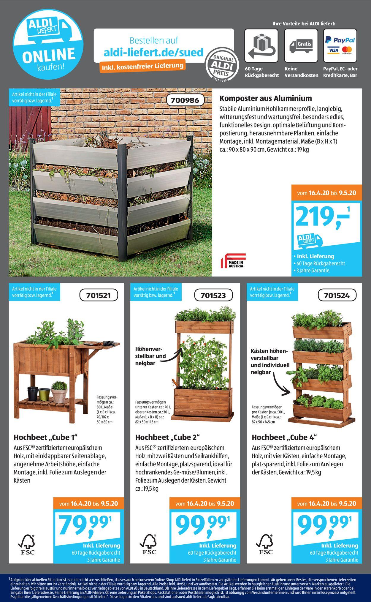 Full Size of Aldi Sd Aktueller Prospekt 2704 02052020 25 Jedewoche Relaxsessel Garten Hochbeet Wohnzimmer Hochbeet Aldi