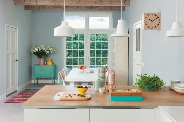 Medium Size of Wandfarbe Küche Farbe In Der Kche So Wirds Wohnlich Wellmann Deckenlampe Magnettafel Ikea Miniküche Abfalleimer Was Kostet Eine Neue Hängeregal Modulare Wohnzimmer Wandfarbe Küche