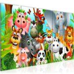 Wandbild Kinderzimmer Kinderzimmer Wandbild Kinderzimmer Wandbilder Tiere Bilder Xxl Vlies Leinwand Bild Wohnzimmer Regal Schlafzimmer Regale Weiß Sofa