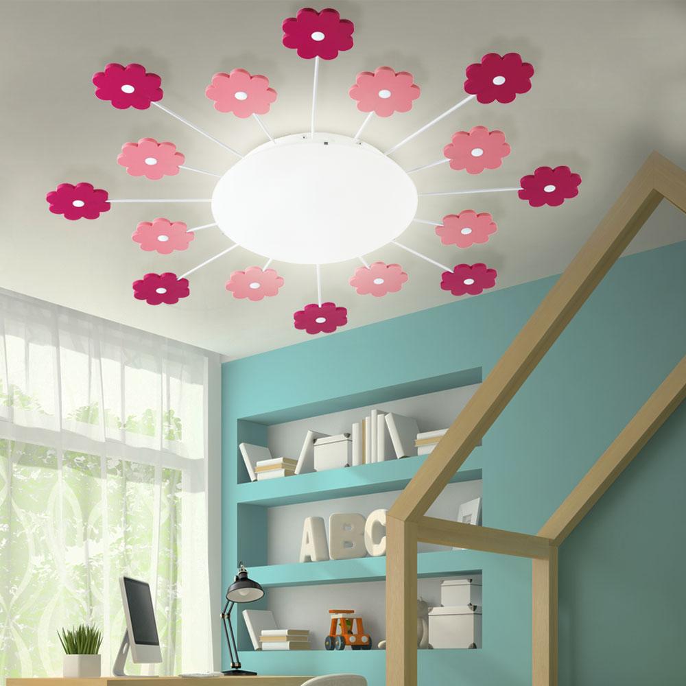 Full Size of Deckenlampen Kinderzimmer Wand Und Deckenleuchte Mit Pinken Blumen Viki Meinelampe Sofa Regale Wohnzimmer Regal Weiß Modern Für Kinderzimmer Deckenlampen Kinderzimmer