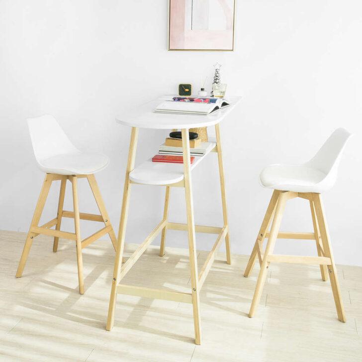 Küchentheke Sobuy Fwt59 Wn Design Bartisch Mit 2 Tischplatten Stehtisch Wohnzimmer Küchentheke