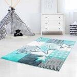 Teppichboden Kinderzimmer Kinderzimmer Kinderteppich Mit Sternen Bueno Kids 1451 Pastell Trkis In 2020 Kinderzimmer Regal Sofa Regale Weiß