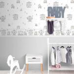 Bordüren Kinderzimmer Kinderzimmer Bordüren Kinderzimmer Rasch Textil Lullaby Tapeten Und Bordren In Zarten Farben Mit Regal Weiß Regale Sofa