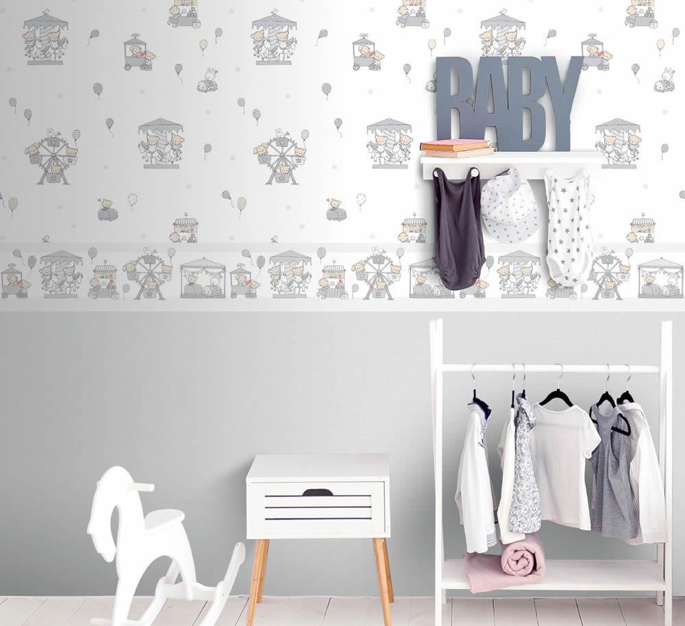 Full Size of Bordüren Kinderzimmer Rasch Textil Lullaby Tapeten Und Bordren In Zarten Farben Mit Regal Weiß Regale Sofa Kinderzimmer Bordüren Kinderzimmer