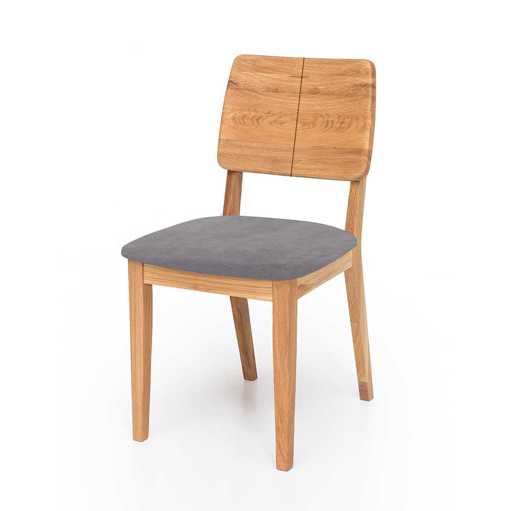 Full Size of Esstisch Stühle Sthle Victoria Aus Eiche Massivholz Und Grau Kunstleder Mit 4 Stühlen Günstig Rustikal 120x80 Esstische Ausziehbar Kleiner Weiß Holz 160 Esstische Esstisch Stühle
