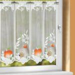 Küchengardinen Wohnzimmer Kchengardine Igel Wei Rot Grn 40 140 Cm Sb Lagerkauf