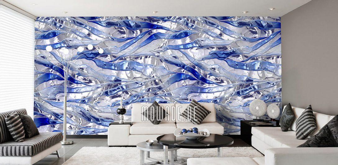 Large Size of Tapeten Modern Blau Design Von Mowade Moderne Bilder Fürs Wohnzimmer Deckenlampen Deckenleuchte Landhausküche Tapete Küche Bett Schlafzimmer Esstisch Wohnzimmer Tapeten Modern