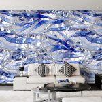 Tapeten Modern Blau Design Von Mowade Moderne Bilder Fürs Wohnzimmer Deckenlampen Deckenleuchte Landhausküche Tapete Küche Bett Schlafzimmer Esstisch Wohnzimmer Tapeten Modern