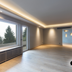 Wohnzimmer Indirekte Beleuchtung Abgehngte Decke In Einem Modernen Heizkörper Teppich Tapete Hängeschrank Weiß Hochglanz Bilder Xxl Deckenlampe Badezimmer Wohnzimmer Wohnzimmer Indirekte Beleuchtung