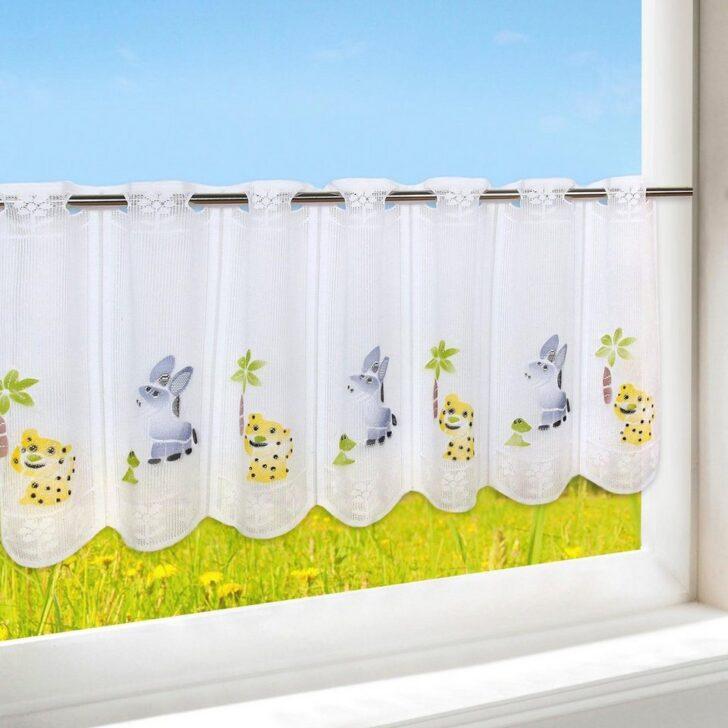 Medium Size of Scheibengardinen Kinderzimmer Scheibengardine Happy Animals Regal Weiß Regale Sofa Küche Kinderzimmer Scheibengardinen Kinderzimmer