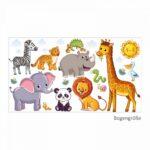080 Wandtattoo Tiere Kinderzimmer Elefant Lwe Giraffe Wandtattoos Wohnzimmer Bad Sofa Sprüche Regal Schlafzimmer Badezimmer Küche Weiß Regale Kinderzimmer Wandtattoo Kinderzimmer Tiere