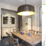 Innenraum Einer Kche Mit Groer Lampe Stockfoto Bild Von Einhebelmischer Küche Für Wohnzimmer Geräten Thekentisch Stehlampe Schlafzimmer Billig Kaufen Ikea Wohnzimmer Lampe Küche