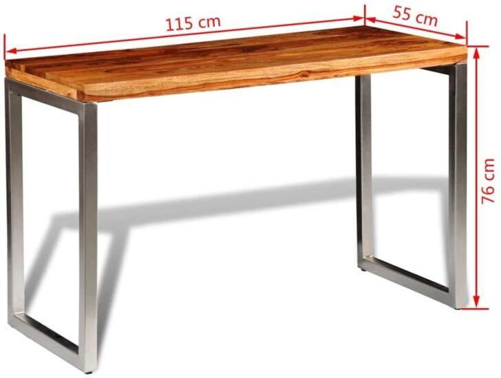 Medium Size of Sheesham Esstisch Vidaxl Holz Palisander Tisch Arbeitstisch Glas Kleine Esstische Esstischstühle Oval Mit 4 Stühlen Günstig Rund 2m Lampe Eiche Massiv Esstische Sheesham Esstisch