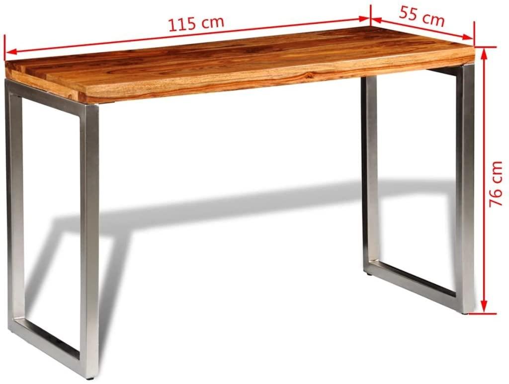 Full Size of Sheesham Esstisch Vidaxl Holz Palisander Tisch Arbeitstisch Glas Kleine Esstische Esstischstühle Oval Mit 4 Stühlen Günstig Rund 2m Lampe Eiche Massiv Esstische Sheesham Esstisch