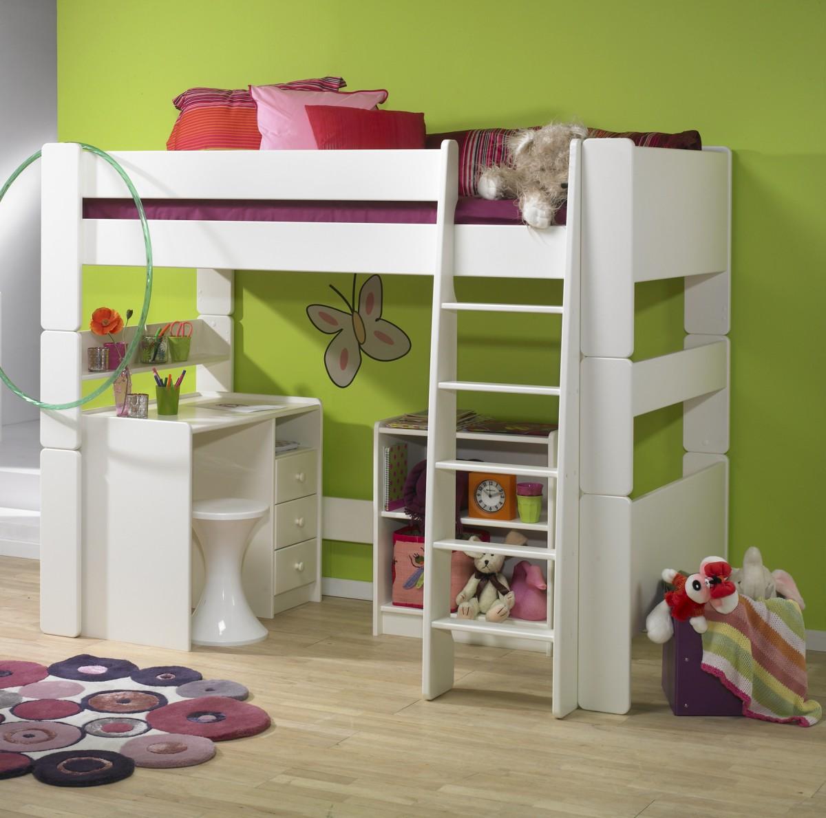 Full Size of Hochbett Kinderzimmer Set Mdf Wei Lackiert Bett Schreibtisch Sofa Regal Regale Weiß Kinderzimmer Hochbett Kinderzimmer