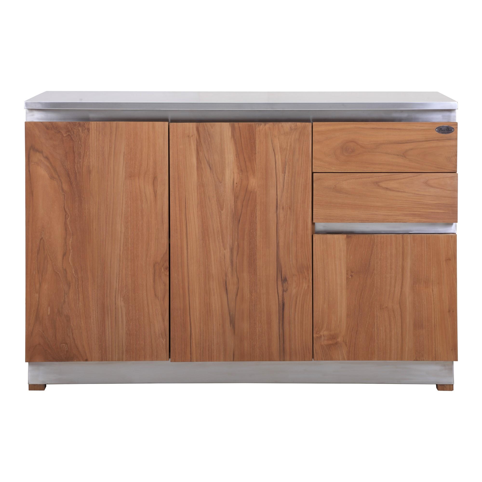 Full Size of Küchenanrichte Kchenanrichte Rivera Outdoormbel Aus Teak Und Edelstahl Teakode Wohnzimmer Küchenanrichte