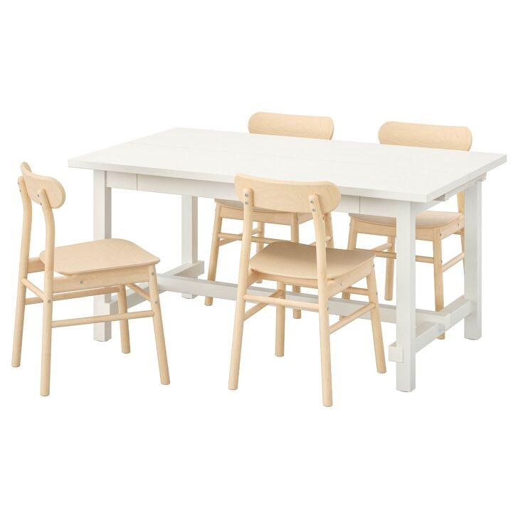 Medium Size of Nordviken Rnninge Tisch Und 4 Sthle Wei Sofa Für Esstisch Stühle Bett 160x200 Mit Lattenrost Matratze 2m Landhausstil Ausziehbar Industrial Landhaus Vietnam Esstische Esstisch Und Stühle