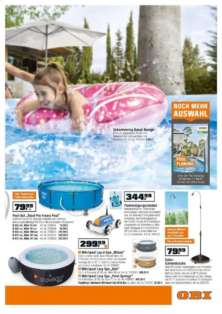 Medium Size of Obi Pool Angebote 562019 1562019 Rabatt Kompass Garten Whirlpool Nobilia Küche Einbauküche Swimmingpool Schwimmingpool Für Den Regale Immobilien Bad Homburg Wohnzimmer Obi Pool