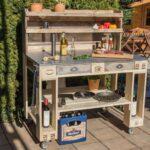 Outdoor Küche Selber Bauen Grilltisch Aus Paletten Palettenmbel Kaufen Komplette Waschbecken L Mit Kochinsel Miniküche Spüle Hängeschrank Glastüren Wohnzimmer Outdoor Küche Selber Bauen