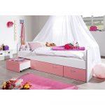 Kinderbett Lihael Fr Mdchen Mit Stauraum Wohnende Bett Mädchen Betten Wohnzimmer Kinderbett Mädchen