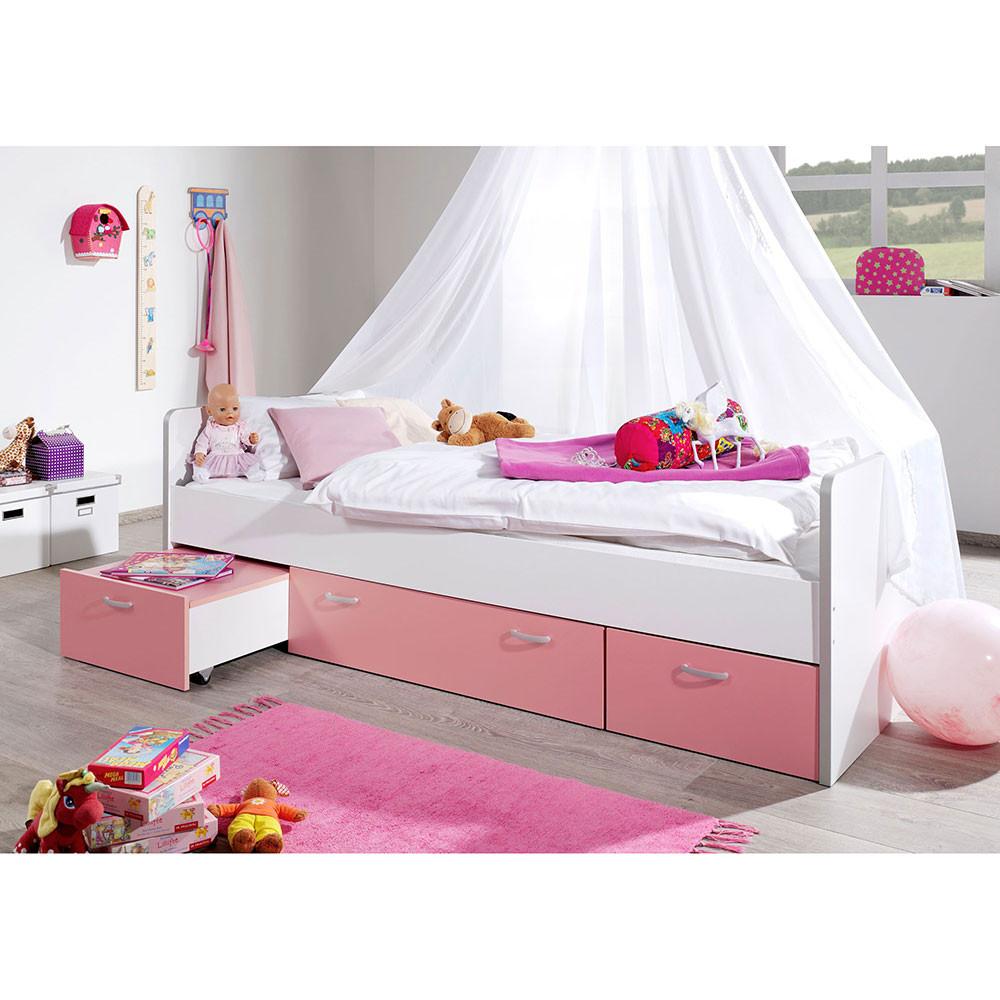 Full Size of Kinderbett Lihael Fr Mdchen Mit Stauraum Wohnende Bett Mädchen Betten Wohnzimmer Kinderbett Mädchen