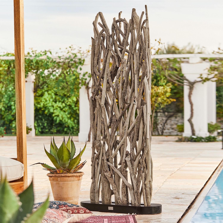 Full Size of Paravent Outdoor Woody Loberon Garten Küche Kaufen Edelstahl Wohnzimmer Paravent Outdoor
