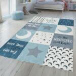 Teppiche Kinderzimmer Teppich Jungen Waschbar Sterne Mond Real Regal Weiß Regale Wohnzimmer Sofa Kinderzimmer Teppiche Kinderzimmer