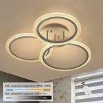 Gbly Led Dimmbar Deckenleuchte Modern Ring Wohnzimmerlampe 3 Wohnzimmer Bad Schlafzimmer Deckenleuchten Küche Modernes Bett 180x200 Moderne Duschen Sofa Wohnzimmer Deckenleuchte Modern