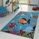 Teppichboden Kinderzimmer Kinderzimmer Kinderzimmer Teppich Grau Unterwasserwelt Regal Weiß Regale Sofa