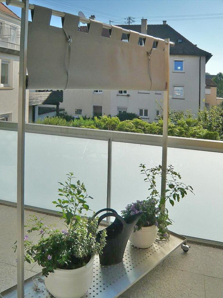 Full Size of Paravent Balkon Mit Stoffbespannung Fr Den Metallgestaltung Garten Wohnzimmer Paravent Balkon