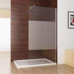 Walk In Dusche Duschabtrennung Duschwand 10mm Nano Teilsatin Glas Bodengleiche Nachträglich Einbauen Fliesen Für Komplett Set Unterputz Begehbare Pendeltür Dusche Glaswand Dusche