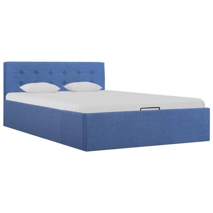 Medium Size of Stauraumbett 120x200 Vidaxl Hydraulisch Blau Stoff 120 200 Cm Gitoparts Bett Weiß Mit Bettkasten Betten Matratze Und Lattenrost Wohnzimmer Stauraumbett 120x200