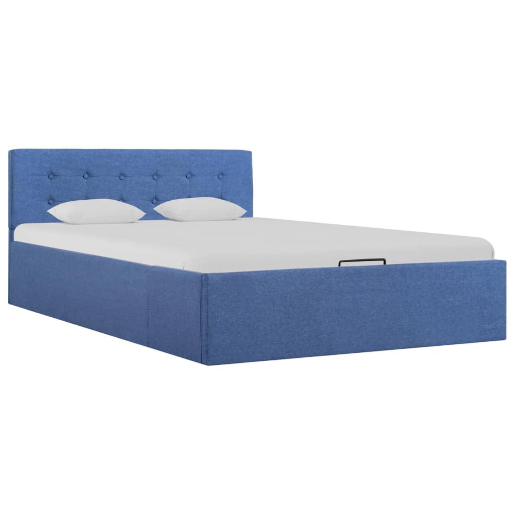 Full Size of Stauraumbett 120x200 Vidaxl Hydraulisch Blau Stoff 120 200 Cm Gitoparts Bett Weiß Mit Bettkasten Betten Matratze Und Lattenrost Wohnzimmer Stauraumbett 120x200