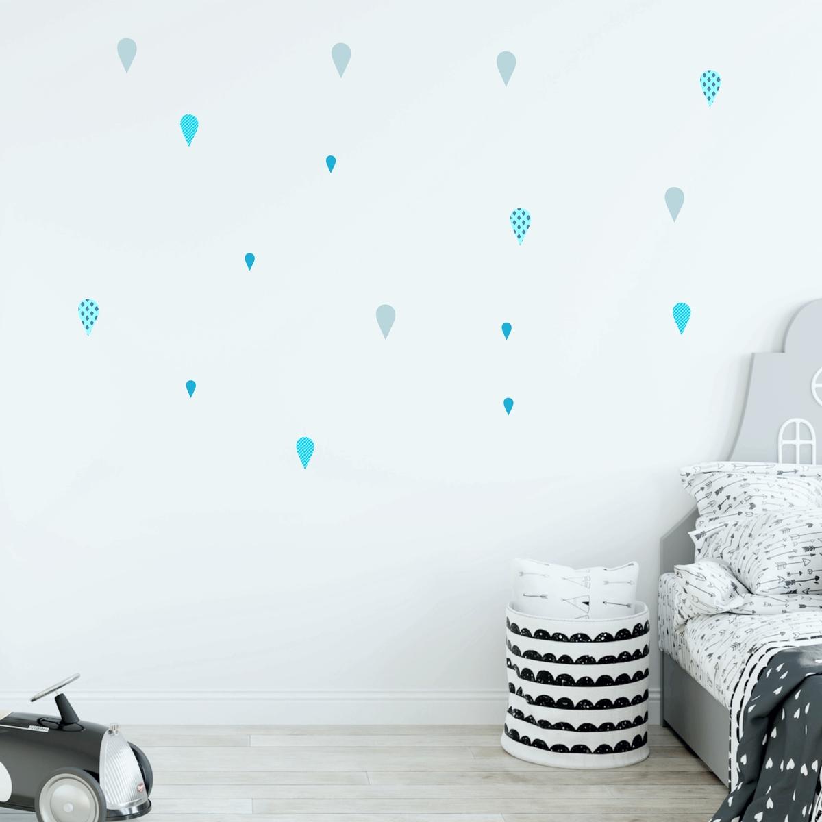 Full Size of Wandsticker Kinderzimmer Junge Regentropfen Wassertropfen Blau Regal Küche Sofa Regale Weiß Kinderzimmer Wandsticker Kinderzimmer Junge