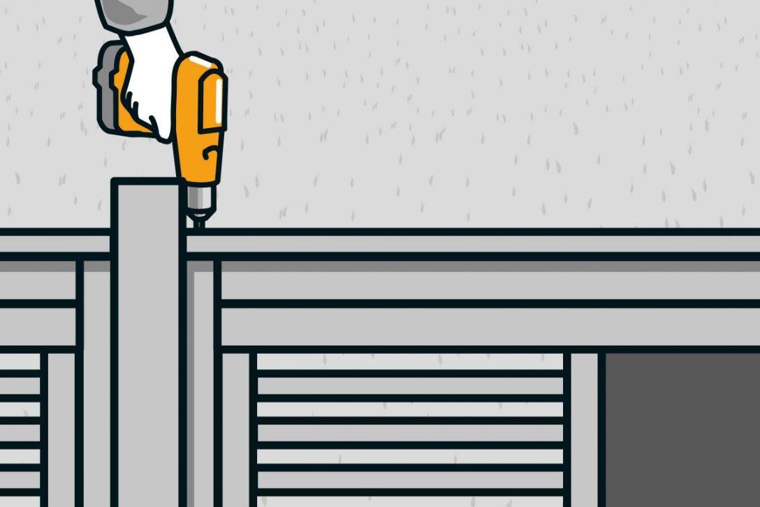 Large Size of Sichtschutz Bauen Mit Zaunsystem Anleitung Von Hornbach Im Garten Sichtschutzfolien Für Fenster Wpc Sichtschutzfolie Einseitig Durchsichtig Holz Wohnzimmer Hornbach Sichtschutz