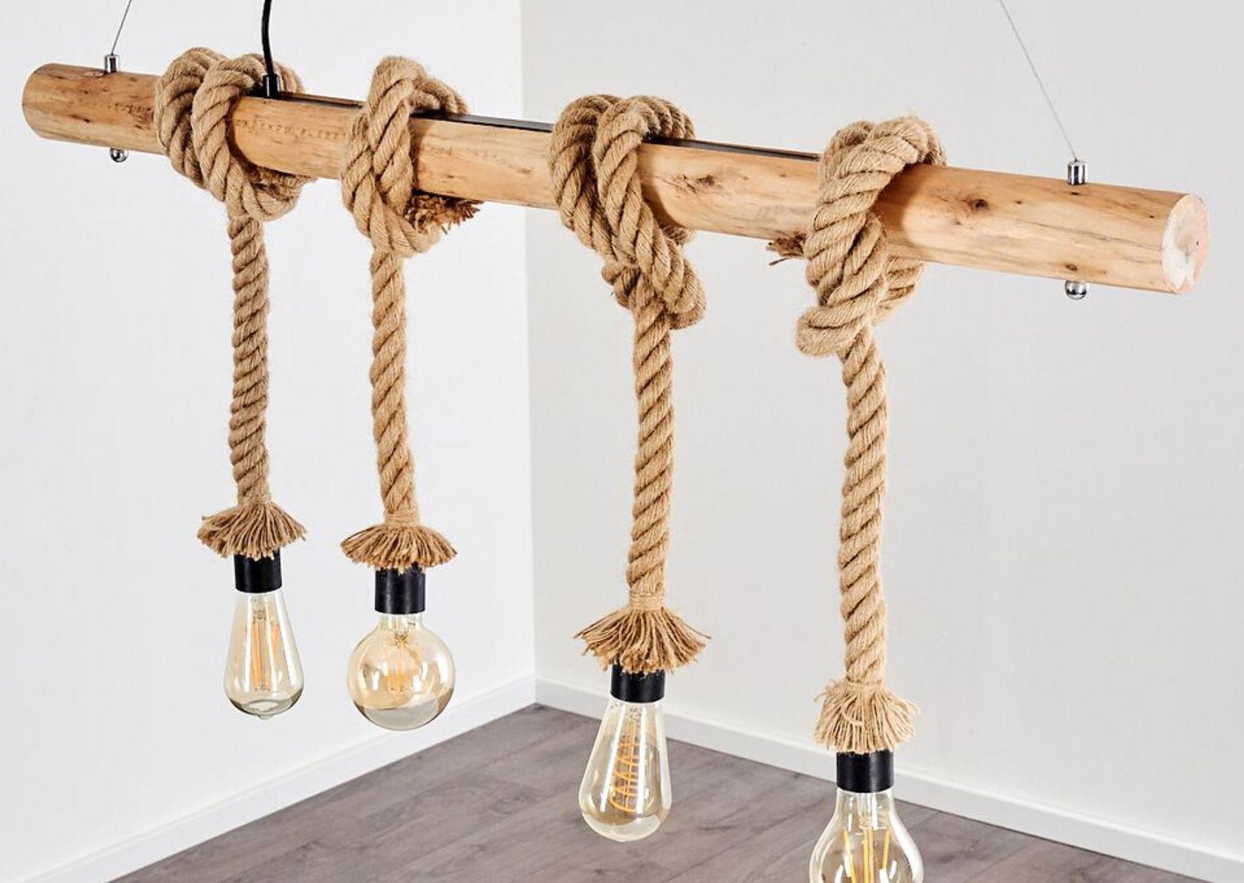 Full Size of Holzlampe Decke Seillampen Und Taulampen Maritime Einrichtung Lampe Magazin Wohnzimmer Deckenlampen Deckenleuchten Bad Deckenlampe Esstisch Decken Wohnzimmer Holzlampe Decke
