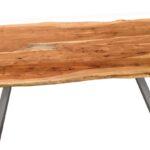 Esstisch Baumkante Antiksilber Natur 120 80 Cm Tische Tables Kleiner Sheesham Klein Set Günstig Mit Stühlen Bett 140x200 Stauraum Deckenlampe Sofa Esstische Esstisch Mit Baumkante