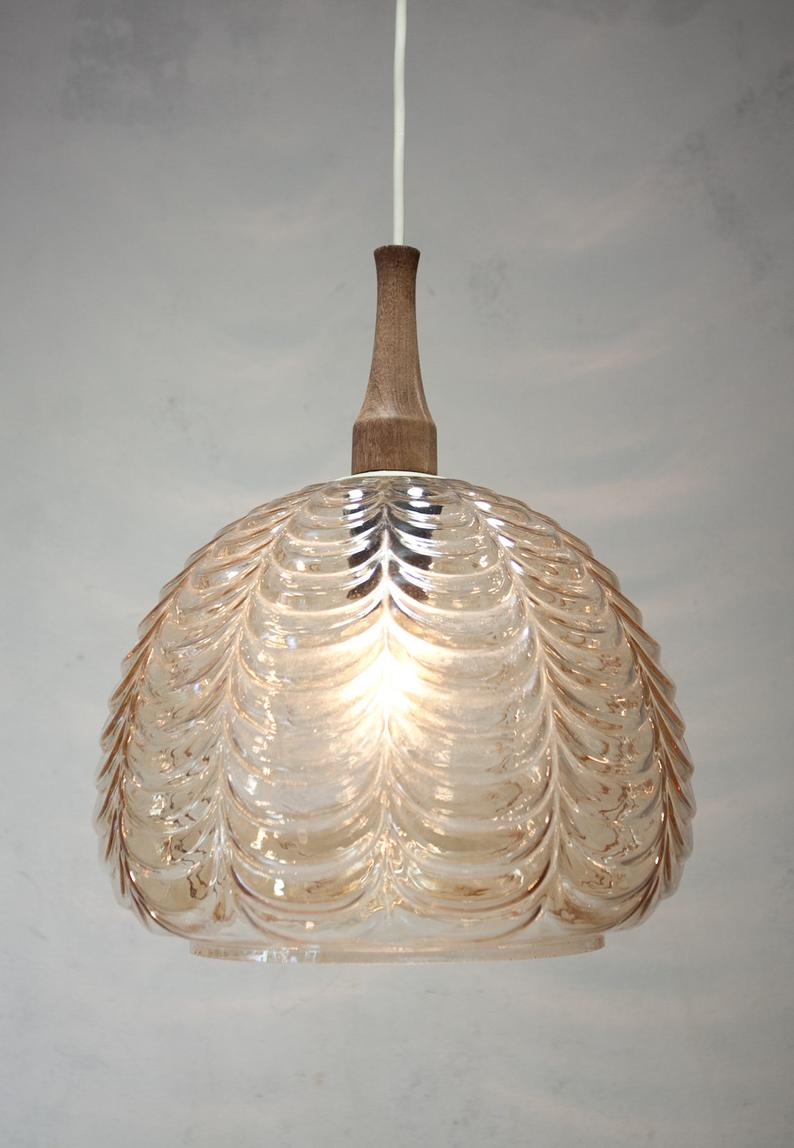 Full Size of Design Glaslampe Hngelampe 70er Jahre Glas Ddr Veb Wohnzimmer Hängelampen