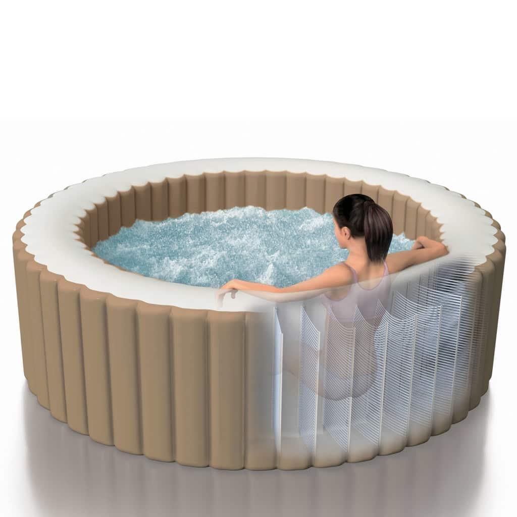 Full Size of Whirlpool Aufblasbar Intepurespa Aufblasbarer Sprudelmassage 216 71 Cm Garten Wohnzimmer Whirlpool Aufblasbar